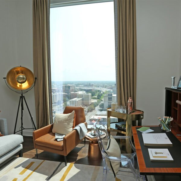 City View From an Apartment at The Residences at Omni Louisville
