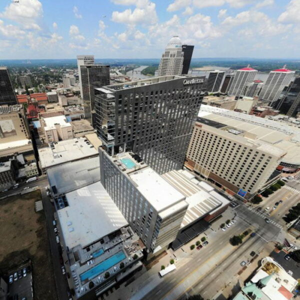 Luxury Apartments Louisville KY - Aerial View of Apartment Building Showing Expansive Community